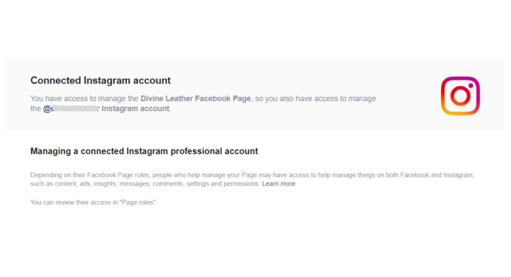 Connecting Instagram with Facebook